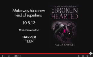 THE BROKENHEARTED by Amelia Kahaney    Book Trailer   YouTube